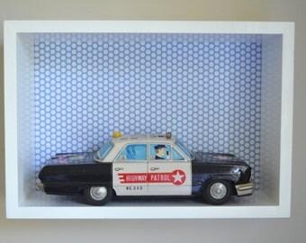 REDUCED - Shadow Box - Boys Shadow Box, Wall Display Box, Wall Shelf, Display Box, Modern Shadow Box, Contemporary Shadow Box