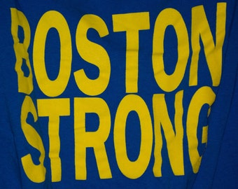 Boston Strong Tee Tote, Shoulder Bag, Book Bag, Recycled Tote