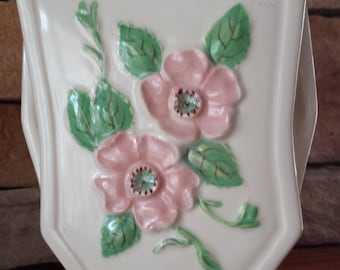 Vintage Rare Hull Art Pottery Rosella R-6 Cream Ivory Vase 1940s D091-5