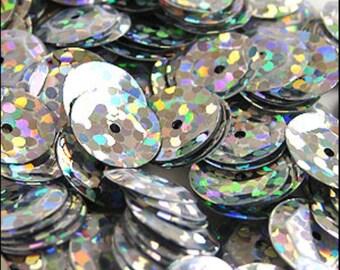 Hologram Silver Cupped Sequins 8mm - JR02695