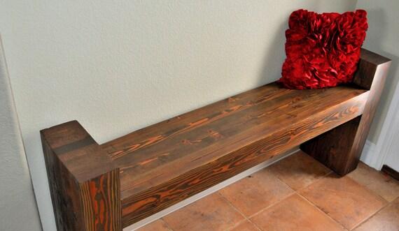banc d 39 entr e en bois massif lamell coll r g n r. Black Bedroom Furniture Sets. Home Design Ideas