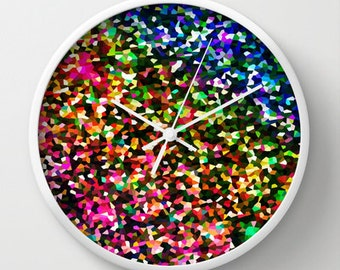 Clock, Sublime Color Clock, Wall Clock, Bright Clock, Coloful Clock, Home Decor, Kitchen Clock, Colorful Wall Clock, Bright Wall Clock