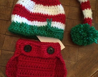 Elf hat and diaper cover