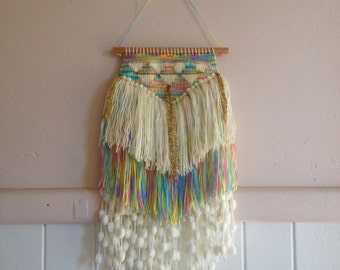S A L E: Handwoven wall hanging - 'The Birthday Party'