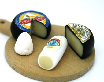 Italian Cheese Selection 12th Scale Miniature