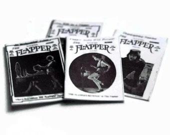 Four Flapper Magazines Dolls House Miniature