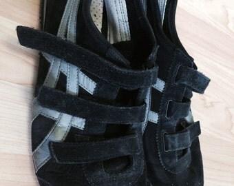 Vintage Onitsuka Tiger Men's Black Suede Size 12