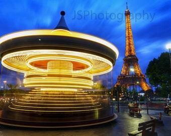 Eiffel Tower Merry Go Round in Paris, France