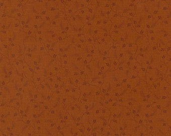 Thimbleberries - Subtle Solid Brown Tone on Tone Vines Fabric