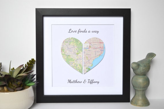 Long Distance Relationship Gift Love Finds a Way Unique Gift