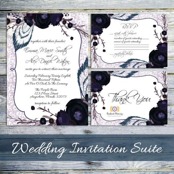 Gothic Wedding Invitation