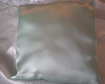 Mint green Wedding ring pillow decorate your self