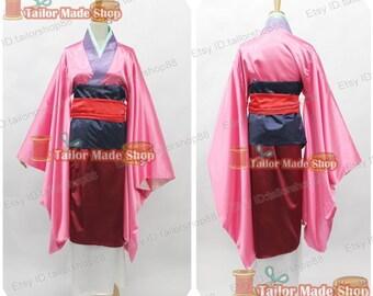 Mulan from Mulan cosplay costume pink