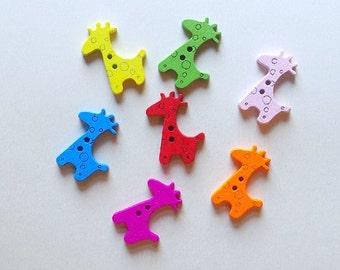 8 Giraffe Buttons - #SB-00030