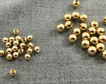 GOLD FILLED BEADS. 3mm, 4mm, 5mm, 6mm, or 8mm. Round Seamless. 14Karat High Quality Guaranteed!