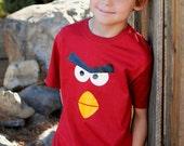 Angry Bird Shirt Toddler Boy/Girl - Boy/Girl Angry Bird tshirt - Baby Onesie Angry Bird Red - Angry Bird Costume Adult -