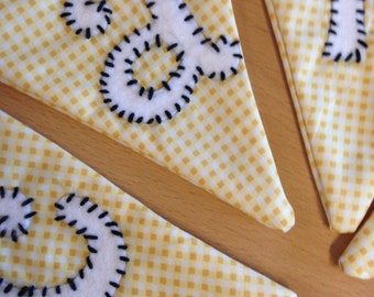 Wedding bunting for cards (most colours in gingham)