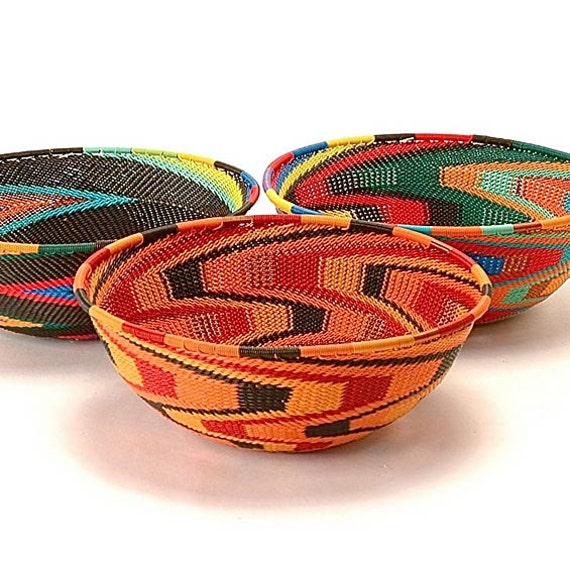 Handmade Baskets From Africa : Items similar to woven wire baskets handmade