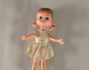 Vintage Blue Box Doll