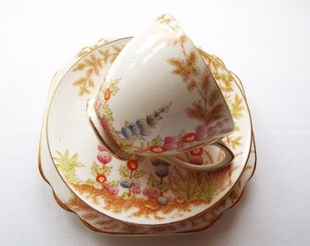 Vintage Tea Cup and Saucer Set Gift, 1950s Rosina, Tea Party Vintage Trio