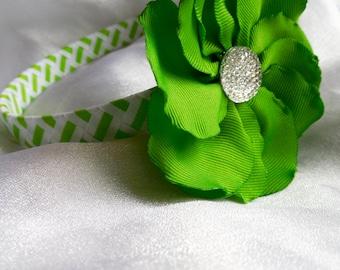 Lime Green woven headband