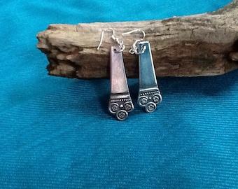Silverware earrings #2