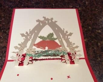 Jingle bells pop up card