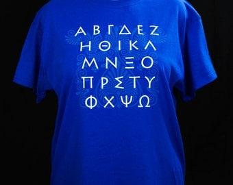 Greek Alphabet T-Shirt Free Shipping