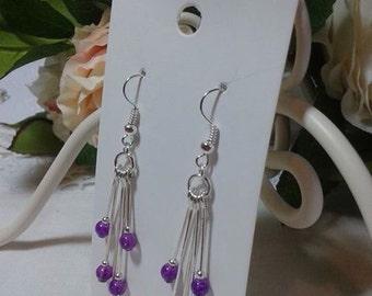 Handmade earrings in a cascade style