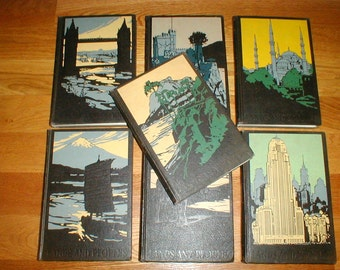 7  Lands And Peoples Books Set *The World In Color* Grolier 1956 *Wonderful Vintage Collection*