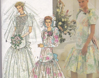 Simplicity 7675  Vintage Pattern Wedding Gown, Bridesmaid Dress, Prom Dress  Size 18,20,22