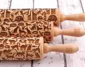 ANIMALS - set of 3 embossing rolling pins