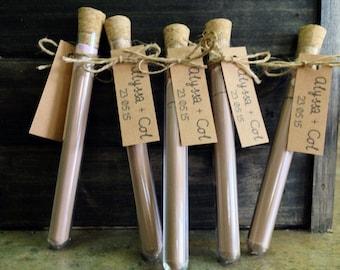 Cadbury Hot Chocolate Test Tube wedding favour bonbonniere -  Completely Custom