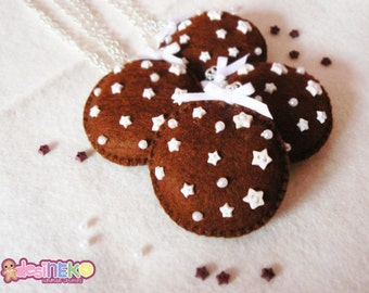 """Chocolate biscuit """"Pan di stelle"""" Necklace"""