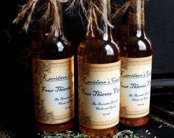 10oz. Four Thieves Vinegar, Banishing, Protection, Cleansing, Witches Cupboard, Salads, Vegetables, Sandwich Dressing, Salad Dressing, Herbs