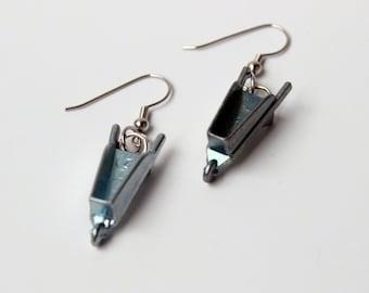 Monopoly Wheelbarrow Token Earrings