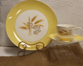 "Autumn Gold"" Pattern; 3 Piece Place Setting; Century Service Corporation; Made in  USA"