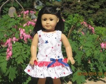 American girl doll 4th of July dress