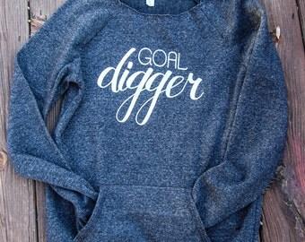 GOAL DIGGER Maniac Off Shoulder Sweatshirt.Womens