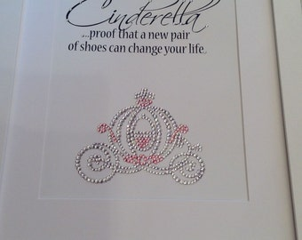 "Diamante Cinderella Carriage 14"" x 11"""