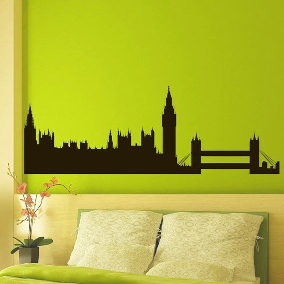 vinyl wall decals london skyline city silhouette sticker home