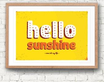 Hello Sunshine | A3 Print
