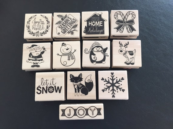 Rubber Stamps Christmas Theme Scrapbooking Card Making