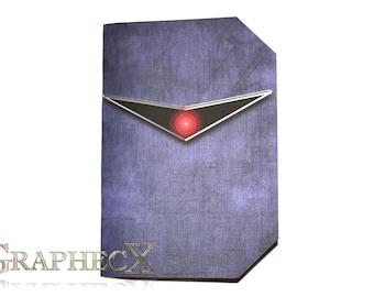 Fan-made Battlestar Galactica Cylon inspired personalized journal notebook