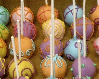 Simple Pastel Cakepops- Easter- Spring- Bright- Sprinkles- Babyshower