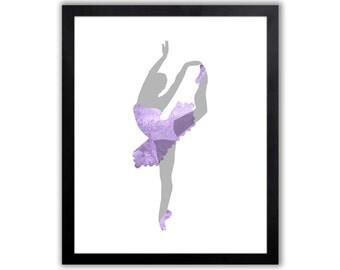 Ballerina Wall Art - Girls Ballerina Room - Ballet Art - Dance Art - Baby Girl Nursery - FIG015