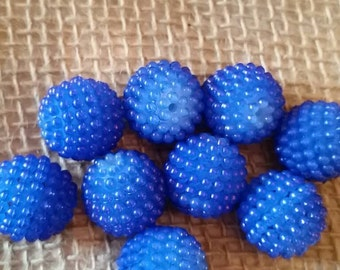 20mm Blue Berry Bead