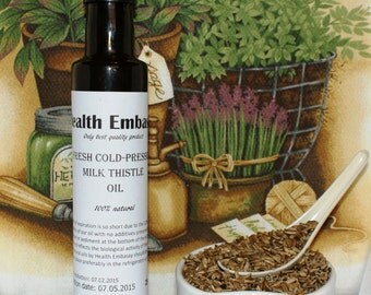 Fresh Cold Pressed Milk Thistle Oil - Health Embassy - Organic