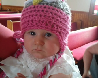 Baby newborn- 6 month old crochet owl hats