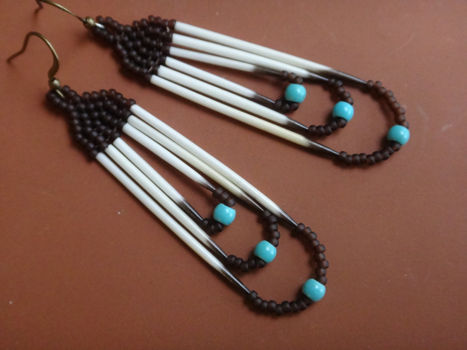 porcupine quills earrings native american earring nature. Black Bedroom Furniture Sets. Home Design Ideas